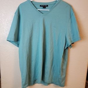 Michael Kors XL Teal Short Sleeve Casual Top